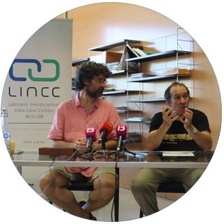 19/06/2018 Pau de Vílchez i Damià Gomis, investigadors del Laboratori Interdisciplinari sobre Canvi Climàtic de la UIB (LINCC UIB) - Foto: A.COSTA (UIB)